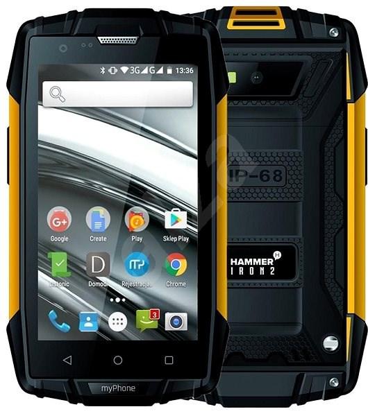 MyPhone Hammer Iron 2 oranžovo-čierna - Mobilný telefón