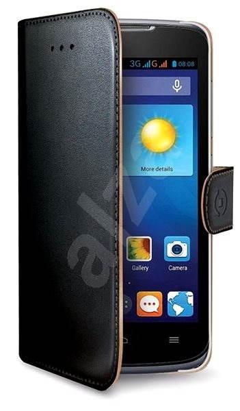 CELLY WALLY493 čierne - Puzdro na mobil