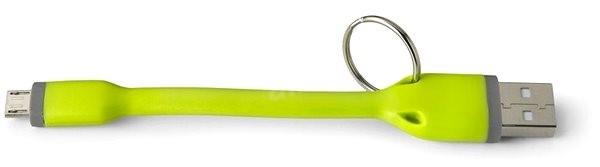 CELLY USB prívesok micro USB zelený - Dátový kábel  ca0af21f40d