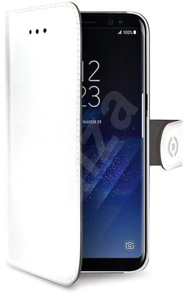 CELLY WALLY pre Samsung Galaxy A8 Plus (2018) biele - Puzdro na mobil 0807622bd7d