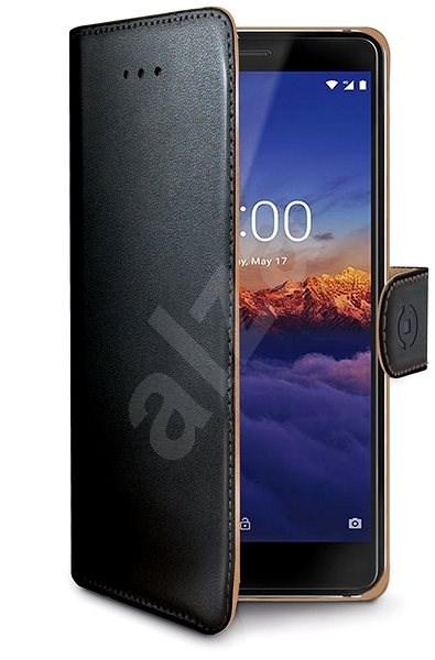 CELLY Wally pre Nokia 3.1/Nokia 3 (2018) čierne - Puzdro na mobil