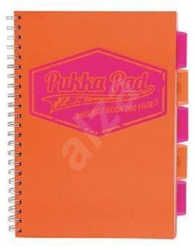 PUKKA PAD Project Book Neon A4 štvorčekový, oranžový - Poznámkový blok
