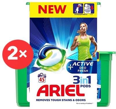 ARIEL Active Sport 3 in 1 2× 45 ks - Kapsuly na pranie