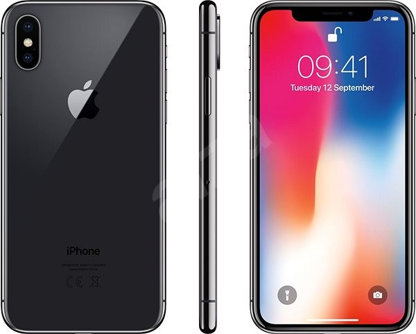 iPhone X 256 GB Vesmírne sivý - Mobilný telefón  29d8b642ec4