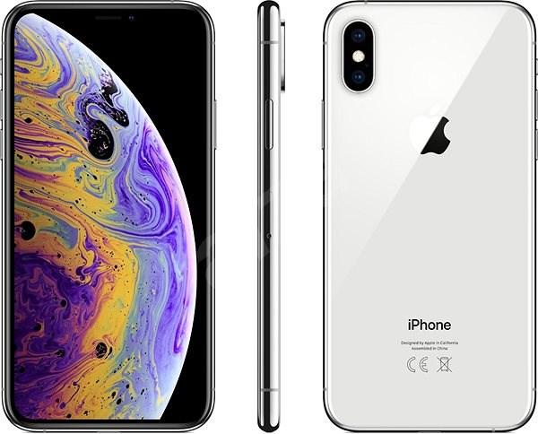 iPhone Xs 64GB strieborná - Mobilný telefón