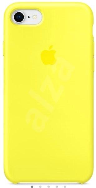 iPhone 8 7 Silikónový kryt žiarivo žltý - Ochranný kryt  e31f3b46560