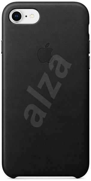 iPhone 8/7 Kožený kryt čierny - Kryt na mobil