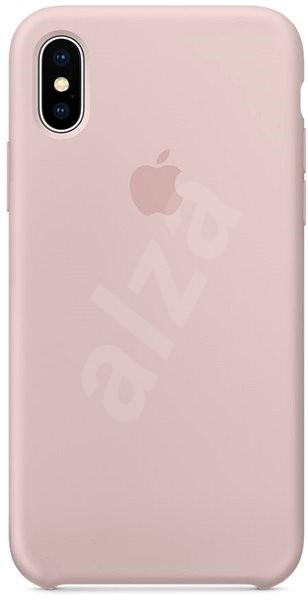 iPhone X Silikónový kryt pieskovo ružový - Kryt na mobil  2ff3633b49d