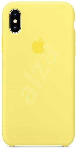 iPhone X Silikónový kryt citrónovo žltý - Ochranný kryt  7e9846eff23