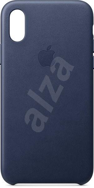 iPhone XS Kožený kryt polnočne modrý - Kryt na mobil  2a4a9491e38
