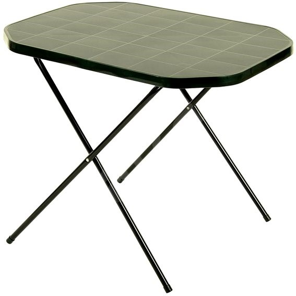 41925507443f ROJAPLAST Stôl 53 × 70 Camping zelený - Záhradný stôl