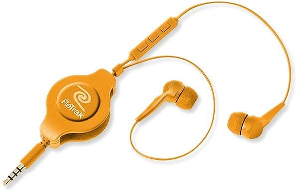 Retraky Earbuds iPhone Controls oranžová - Slúchadlá