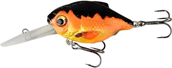 Savage Gear 3D Crucian Crank 34 3,4 cm 3,4 g SF DR 04 – Black & Orange - Nástraha