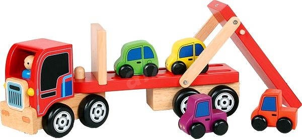 Drevený nákladné kamión - Transport áut - Auto