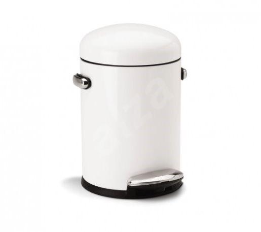 2fc253eb4 Simplehuman Retro kôš do kúpeľne 4,5 l, okrúhly, biely - Odpadkový kôš