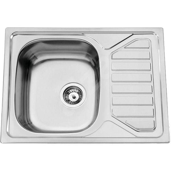 Sinks OKIO 650 V 0,6 mm leštený - Drez