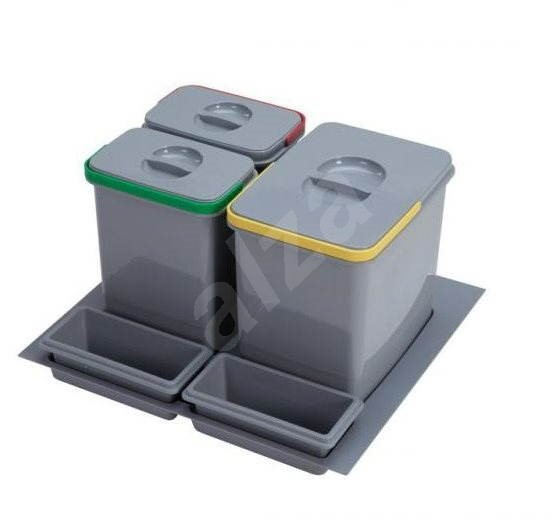 SINKS PRACTIKO 600 1 × 15 l + 2 × 7 l + 2× miska - Odpadkový kôš