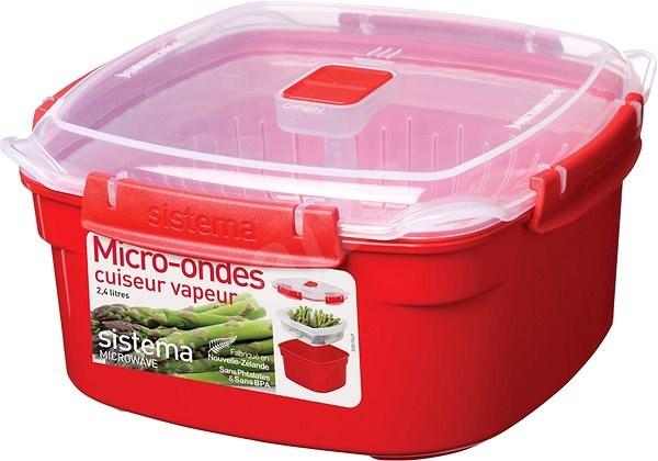 SISTEMA 2,4 l Medium Microwave Steamer - Príslušenstvo