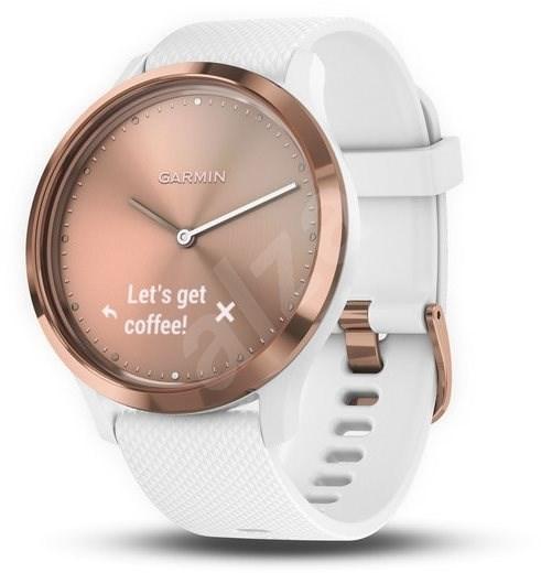 c5cfc8c7a Garmin vívomove HR Sport Rose Gold White (veľkosť S/M) - Smart hodinky
