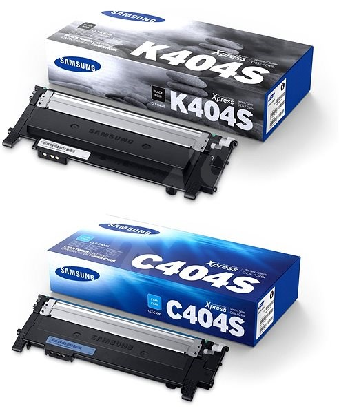 Samsung CLT-K404S čierny + CLT-C404S azúrový - Toner