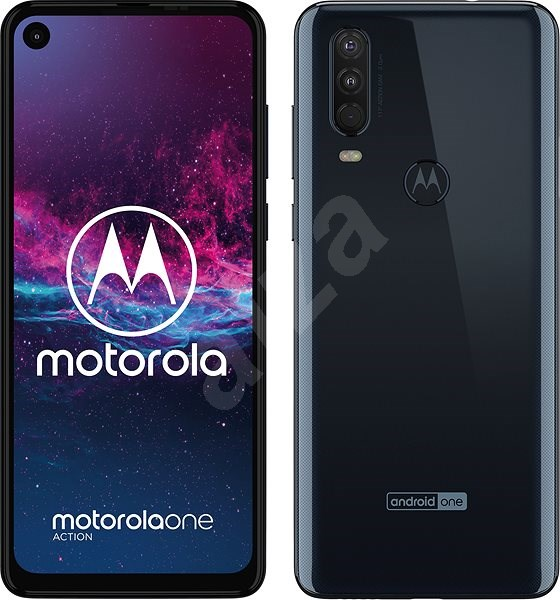 Motorola One Action modrá - Mobilný telefón