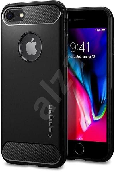 Spigen Rugged Armor Black iPhone 7/8 - Kryt na mobil