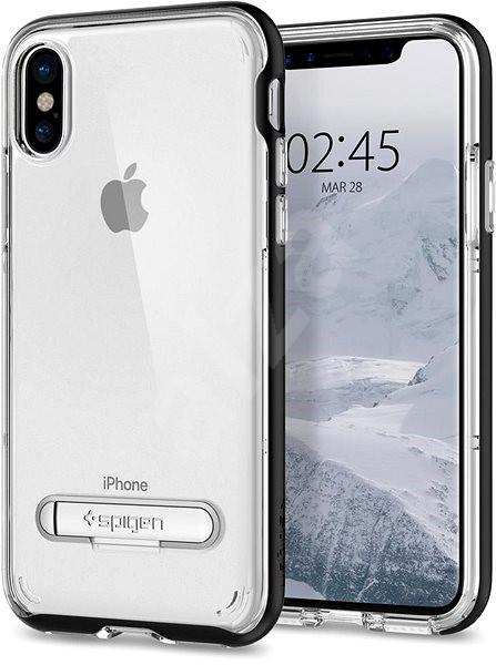 Spigen Crystal Hybrid Black iPhone X - Kryt na mobil  95f6e5b05f5