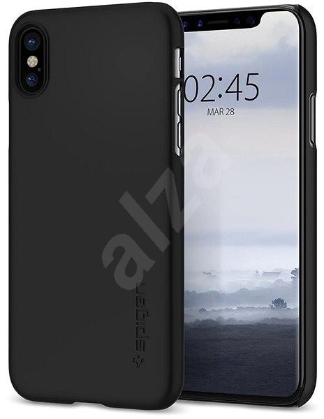 Spigen Thin Fit Black iPhone X - Kryt na mobil