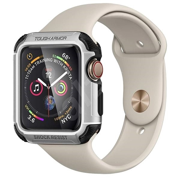 finest selection 47cc7 bc5f5 Spigen Tough Armor Silver Apple Watch 4 44 mm