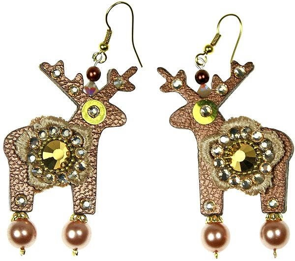 Náušnice Deers - Gold  amp  Flower - Náušnice a5ec0ca1c0f