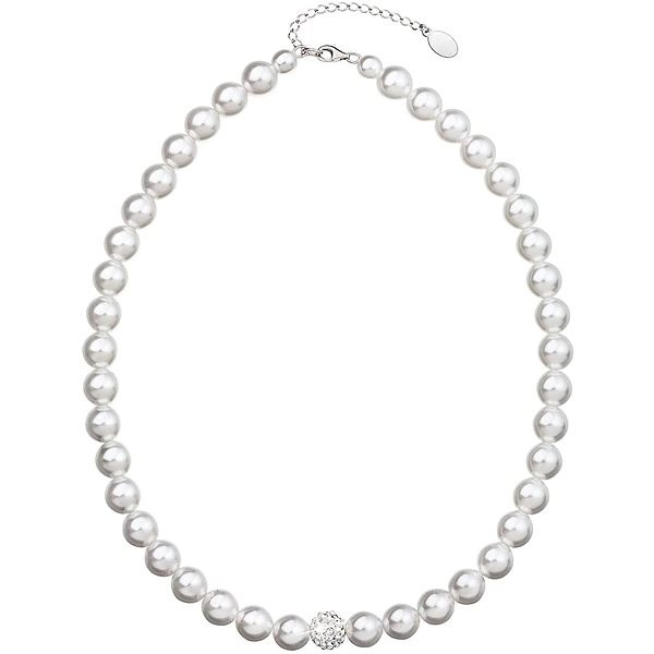 Swarovski Elements Perla biela 32011.1 (925/1 000, 61,7 g) - Náhrdelník