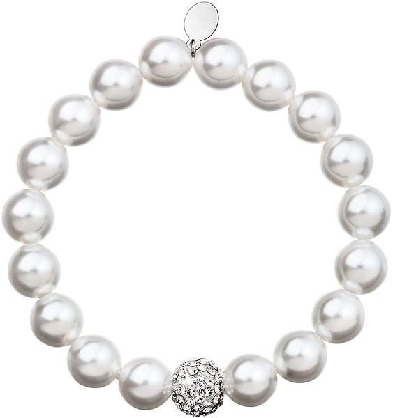 Biely perlový náramok zdobený krištáľmi Swarovski 33074.1 - Náramok ... 659f0af9ae7
