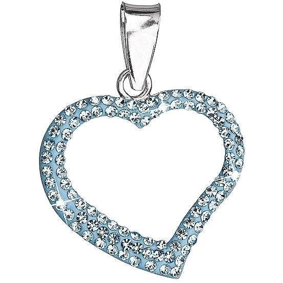 b624e6ee4 Aqua prívesok srdce zdobený krištáľmi Swarovski 34093.3 (925/1000, 0.7 g) -