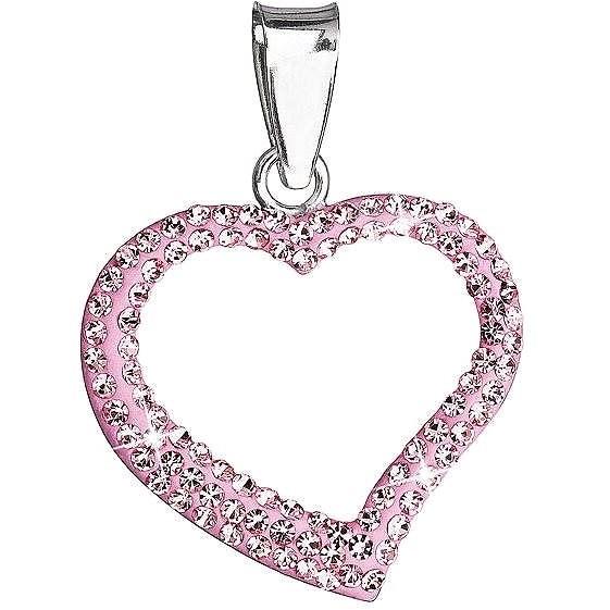 93f2fa294 Rose prívesok srdce zdobený krištáľmi Swarovski 34093.3 (925/1000, 0.8 g) -