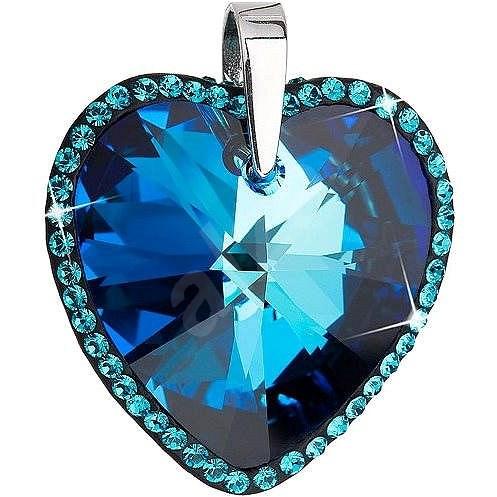 1c0bb8220 Bermuda blue prívesok zdobený kryštálmi Swarovski 34138.5 (925/1000; 12,3 g