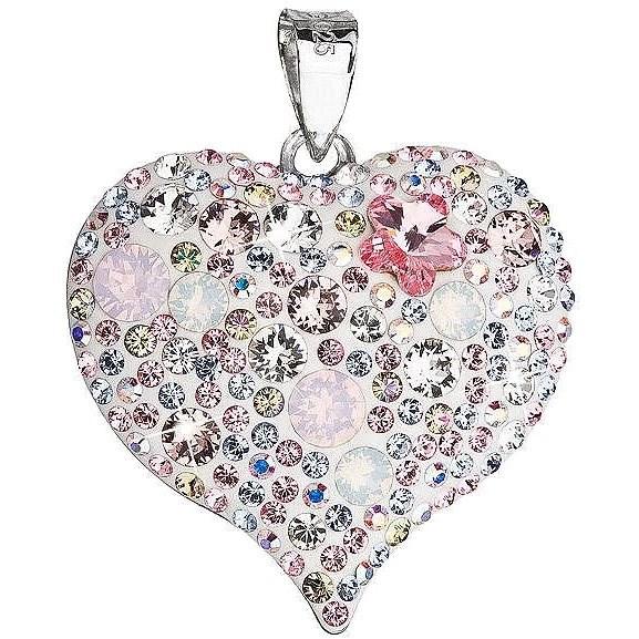 Magic rose prívesok srdce zdobený krštáľmi Swarovski 34181.3 (925 1000 172dd1e1e01