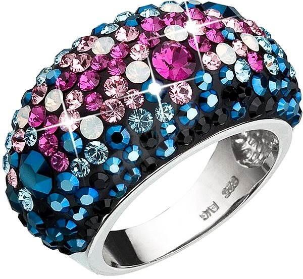 Prsteň dekorovaný krištáľmi Swarovski Galaxy 35028.4 (925 1000  9 g) veľ. 02b5c6604be