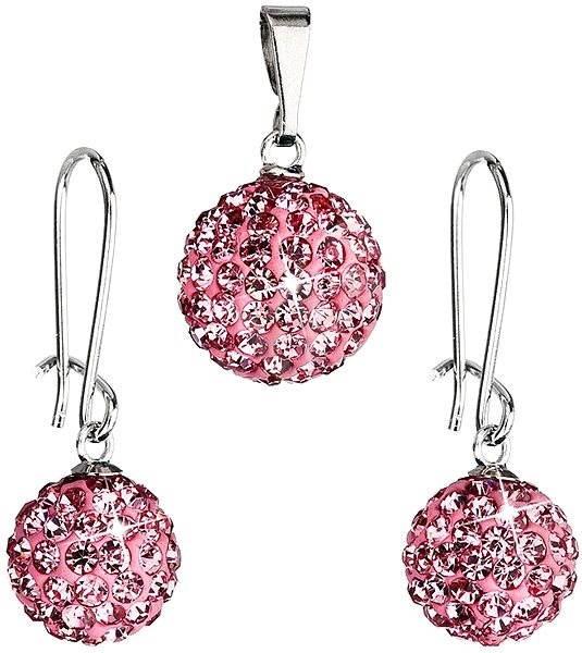 Bižutérna súprava s kamienkami 59072.3 Rose - Darčeková sada šperkov ... c78e60a4a82