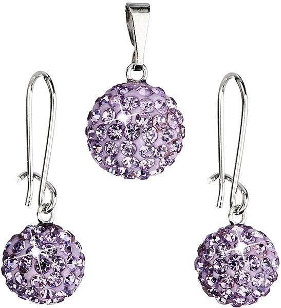 Bižutérna súprava s kamienkami 59072.3 Violet - Darčeková sada šperkov ef4cf544f02