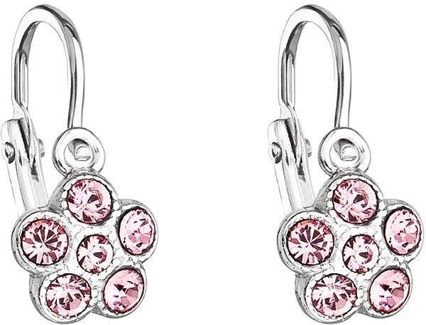 Svetlo ružové detské náušnice vyrobené s kryštálmi Swarovski® 31197.3 -  Náušnice 5035f6589ca