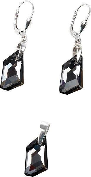 Silver night súprava vyrobená s kryštálmi Swarovski ® 39039.5 - Darčeková  sada šperkov 0cd28cfb26c