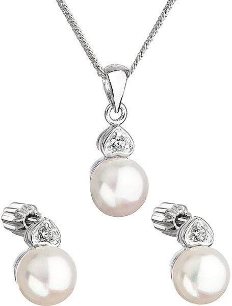 EVOLUTION GROUP 29001.1 strieborná perlová súprava s retiazkou - Darčeková  sada šperkov 632786d3a1d