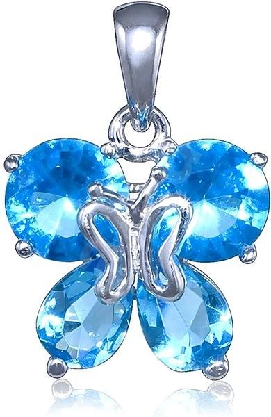 5f4270d37 Strieborný prívesok, zirkón, motýlik (925/1000, 3,2 g), modrá ...