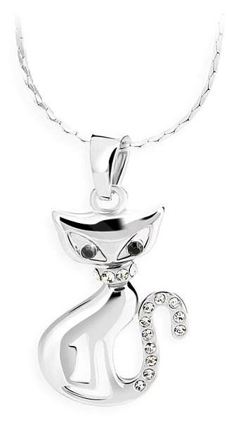 bdfb30401 JSB Bijoux Náhrdelník Mačka s krištáľovými kameňmi Swarovski® - Náhrdelník