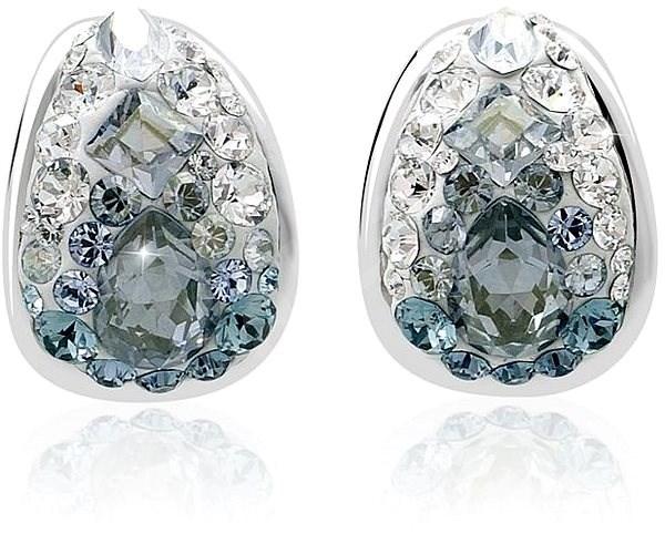 JSB Bijoux Strieborné náušnice Kreole Ice zdobené krištáľovými kameňmi  Swarovski® - Náušnice 14ea64b400e