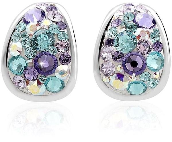 907d0f881 JSB Bijoux Strieborné náušnice Kreole Purple zdobené krištáľovými kameňmi  Swarovski® - Náušnice