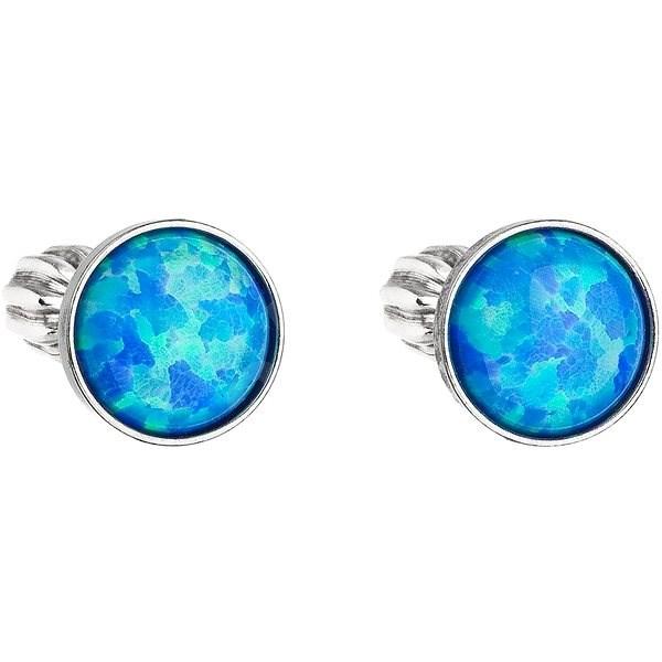 383c27e91 EVOLUTION GROUP 11001.3 modrý syntetický opál náušnice dekorované krystaly  Swarovski® (925/1000,