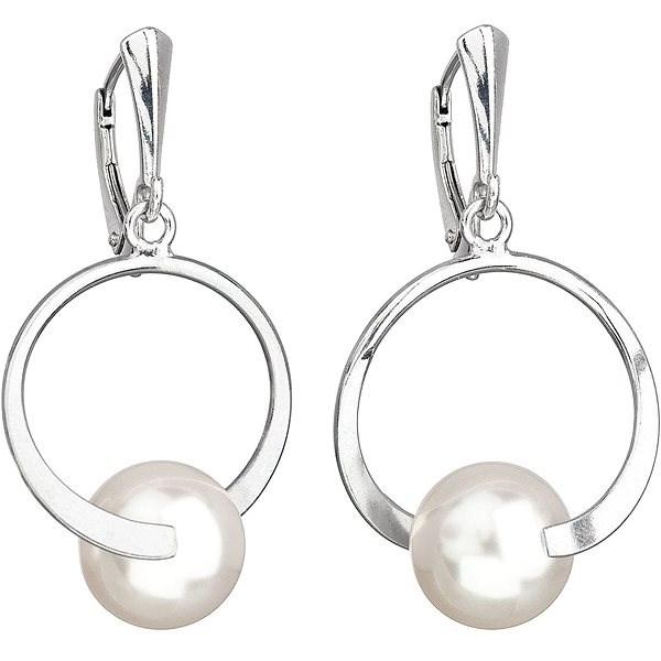 17a8de6ab56 EVOLUTION GROUP 31223.1 biele náušnice dekorované perlou Swarovski®  (925/1000, 4 g
