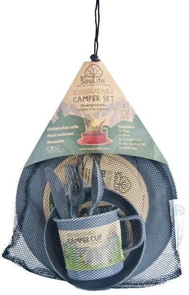 Biodegradable Camper set charcoal - Riad