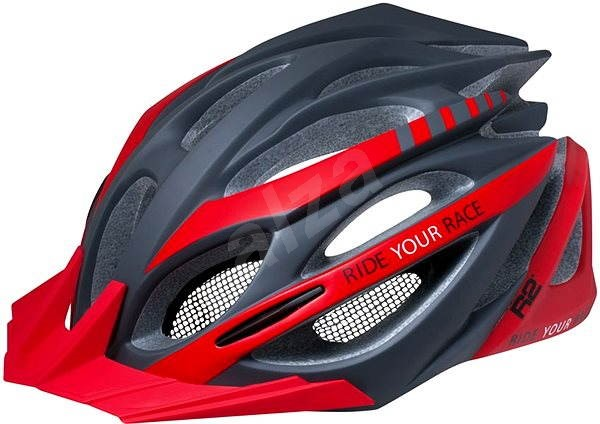 R2 Pro-tec matná sivá červená L - Prilba na bicykel  e5b909b728a